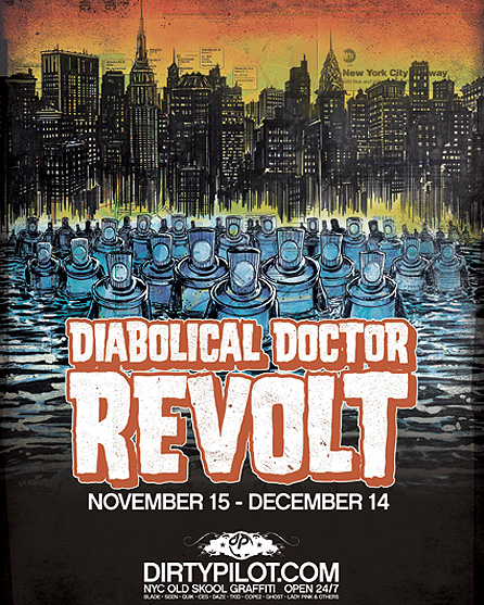 DirtyPilot.com Presents DR REVOLT Paintings, Maps  and 80's Drawings