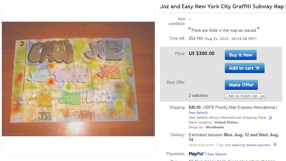 Nyc Subway Map Ebay.Ebay Writer Auctions What You Write Com